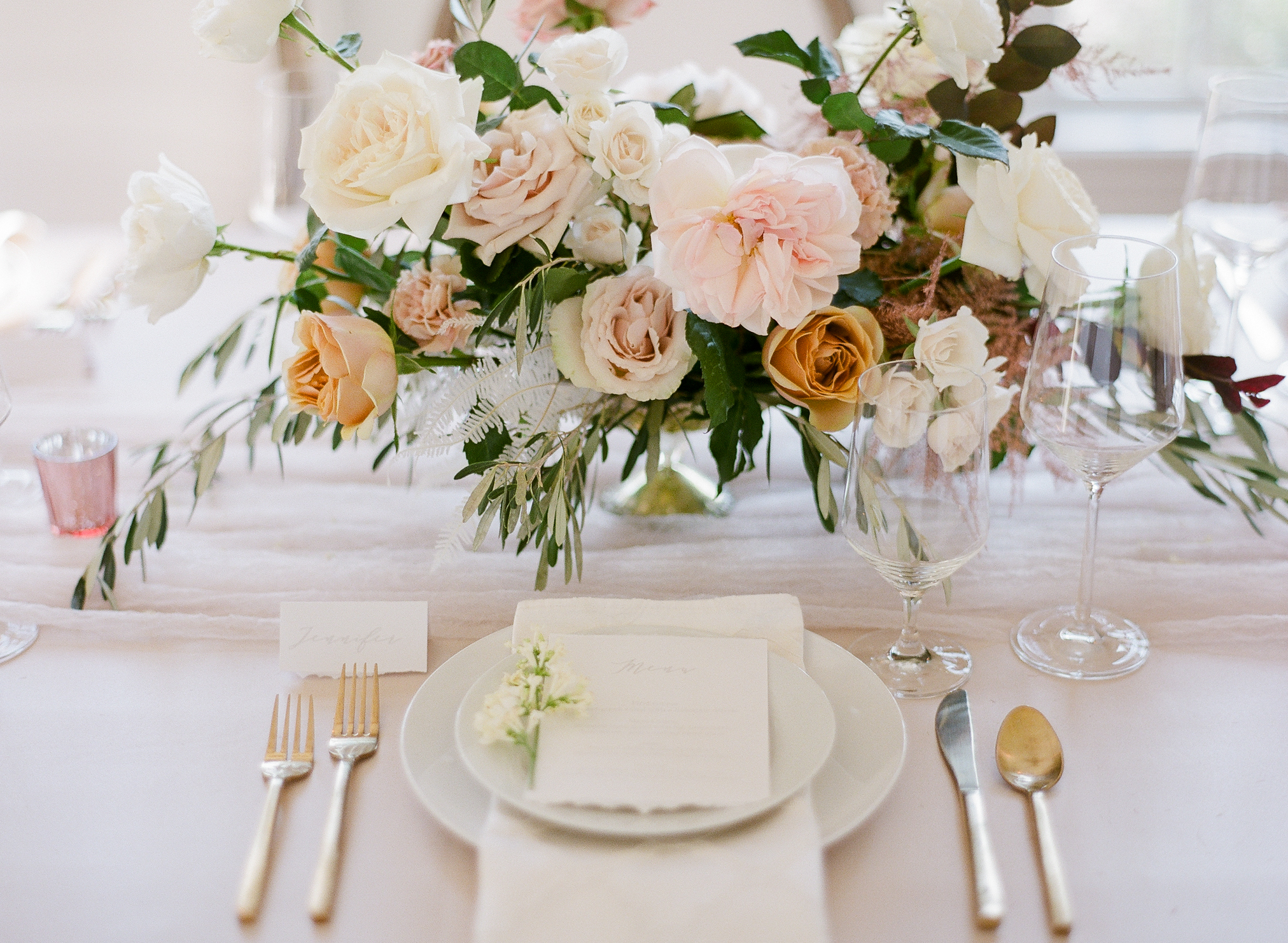 Beautiful Centerpiece bouquet on a table
